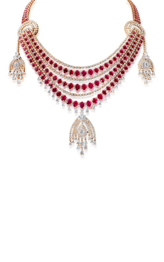 Mesmerizing Ripples Necklace by Farah Khan Fine Jewelry for Preorder on Moda Operandi