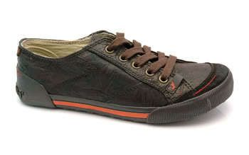 """Gee WaWa """"Campy"""" Brown Leather Sneakers US7.0 on eBay!"""