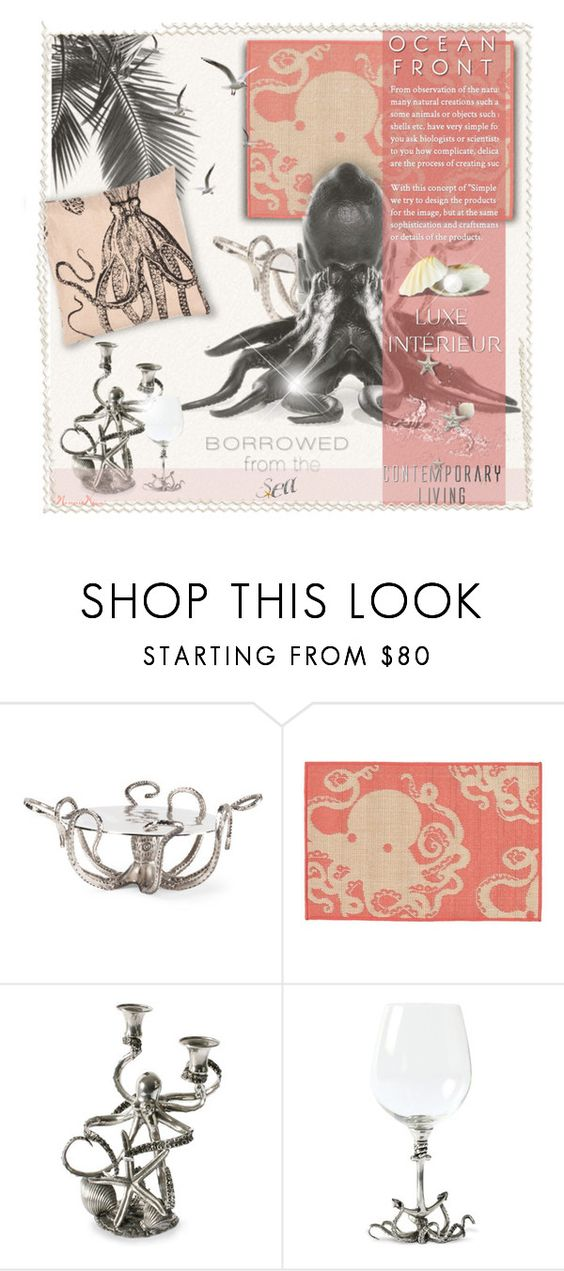 """""""Contemporary T e n t a c l e s - Change It Up"""" by nonniekiss ❤ liked on Polyvore featuring interior, interiors, interior design, home, home decor, interior decorating, Trans-Ocean, Vagabond House, Jaipur and contemporary"""