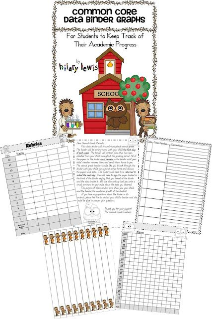 Use this huge variety of free graphs to start  data binders in your classroom. Help your  kids become responsible for their  learning!