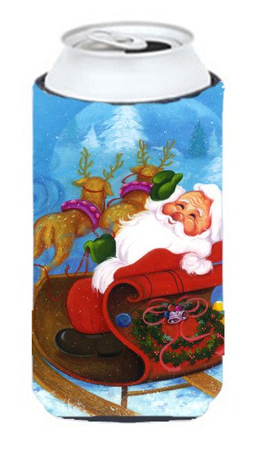 Christmas Santa Claus Good Night Tall Boy Beverage Insulator Hugger APH5775TBC