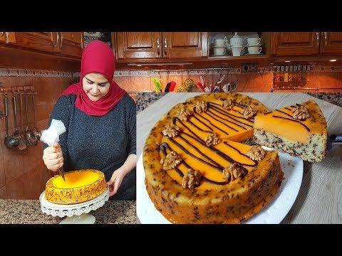 كيكة البرتقال هشيشة ومعلكة بكريمة لديدة سهلة بمكونات بسيطة Youtube Cake Food Desserts
