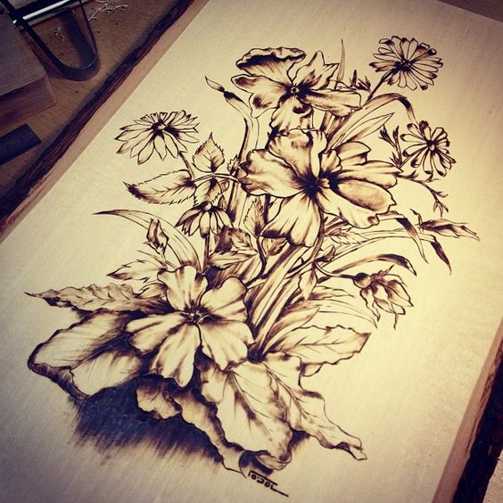 Artist Comment Got Into Pyrography A While Ago And I Made