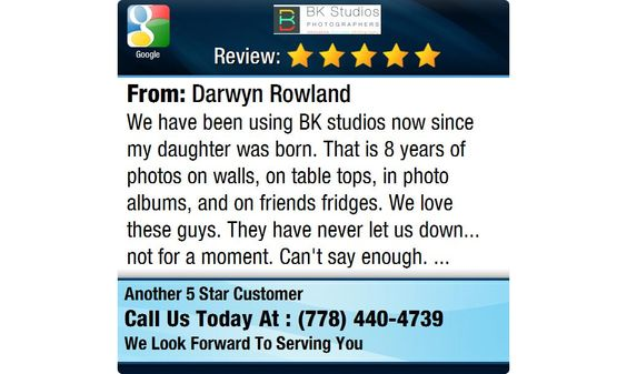 We have been using BK studios now since my daughter was born.  That is 8 years of photos...