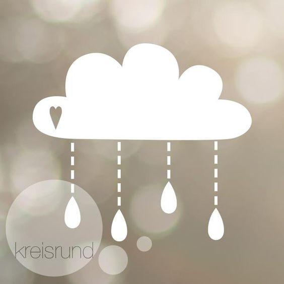 Weiteres - Plotterdatei Regenwolke mit Herz - ein Designerstück von kreisrundpunkt bei DaWanda
