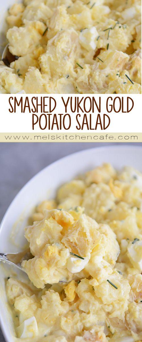 mel s sides smashed yukon and more potato salad potatoes salads ...