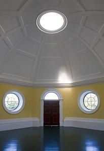 Monticello's breathtaking but useless Dome Room, with its eerie echoes and lack of heat. Thomas Jefferson Foundation