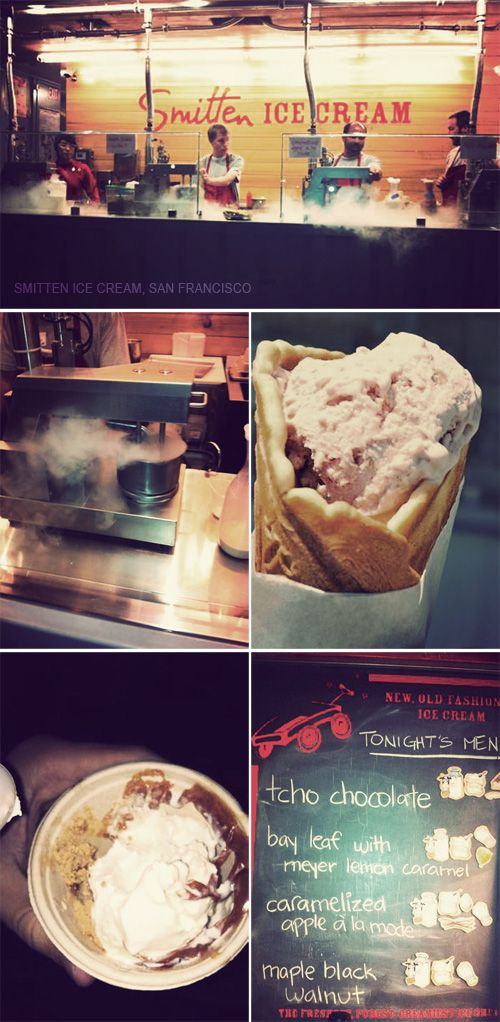 Smitten Ice Cream Hayes Valley chillin liquid nitrogen ice cream shop | miami! | pinterest