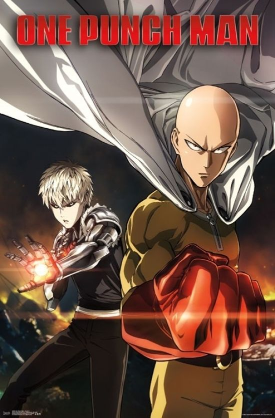 One Punch Man Key Art 1 Poster Print 22 X 34 One Punch Man Poster One Punch Man Manga One Punch Man Anime
