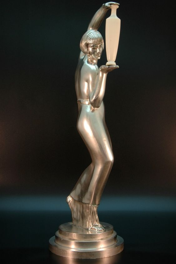 1930s Art Deco Chryselephantine Sculpture • Signed Max Le Verrier