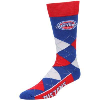 Detroit Pistons For Bare Feet Argyle Crew Socks