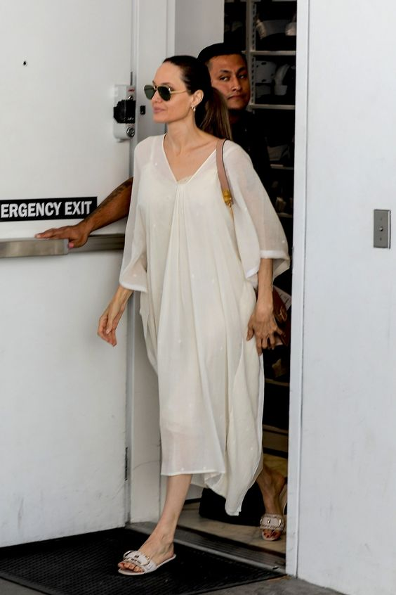 Angelina Jolie Finds Summer's Fanciest Flat | Vogue