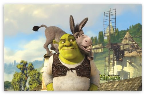 Shrek And Donkey Shrek Forever After Hd Wallpaper For 4k Uhd Widescreen Desktop Smartphone Shrek Animated Movies Shrek Character