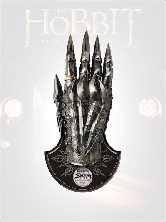 Der Hobbit - Replik 1:1 Saurons Handschuh mit dem Einen Ring