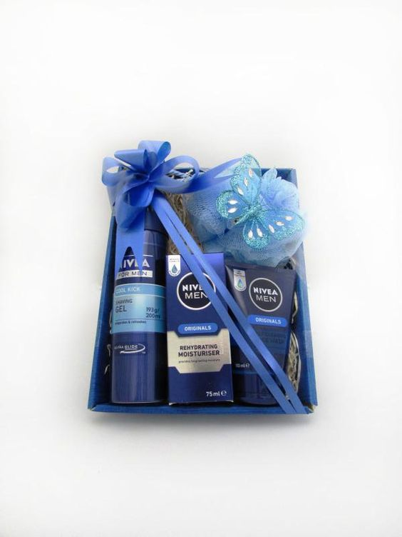 Nivea for Men Cool Kick Shaving Gel, Nivea for Men Originals Rehydrating Moisturiser and Nivea for Men Originals Deep Cleansing Face Wash come together in this simple but elegantly presented gift box for the man in your life.  Price: 14.99  http://luxuryhampers.ie/p/nivea_for_men_medium_gift_set