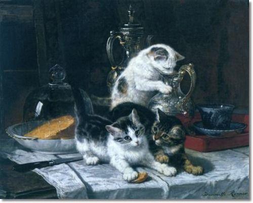 Henriëtte Ronner-Knip (Holanda/Alemania, 1821-1909).