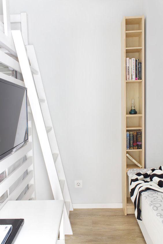 Kitnet de 22m² com uma super cozinha para um espaço tão pequeno - limaonagua