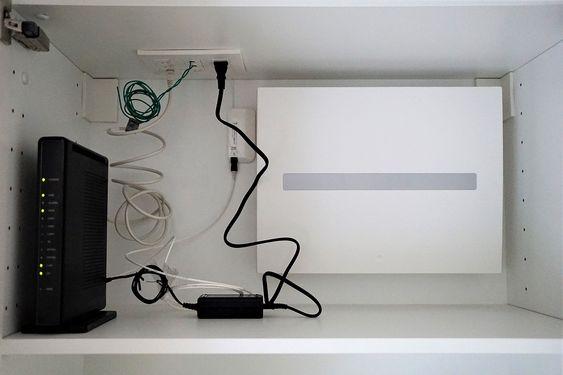 分電盤 情報分電盤 弱電板 の設置位置は戸棚の中 分電盤 モール