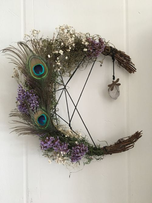Witchy Craft Diy Moon Wreath The Magickal Cottage Witchy
