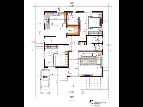 North Facing Plan 39 X 47 Plot Area1833sqft Home Plan Youtube Small House Elevation Design Single Floor House Design North Facing House