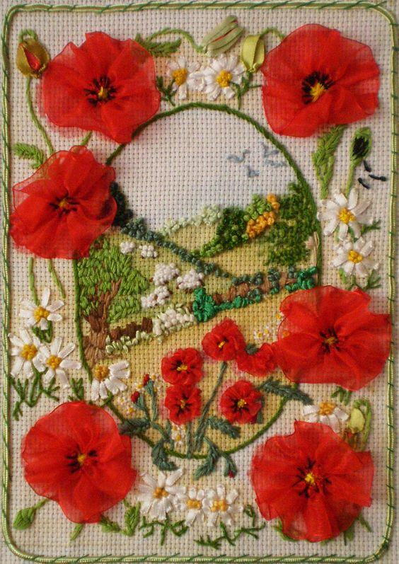 Larissa Boychencko - from Khmelnytsky in the Ukraine  ~Silk Ribbon Embroidery