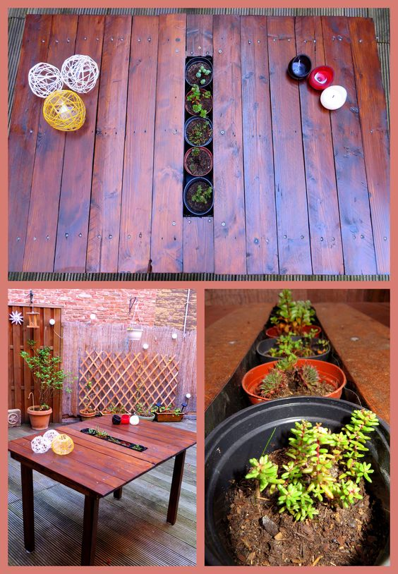self-made table!