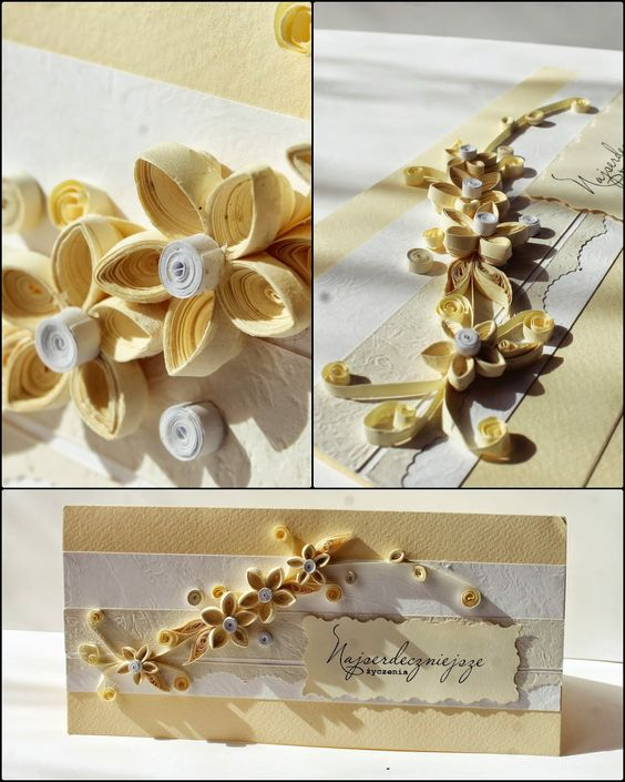 Card quilling paper handmade
