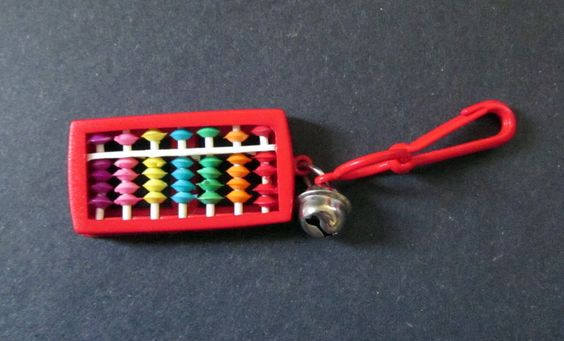 Vintage 80s Plastic Clip Charm -- Retro -- Red Abacus | eBay