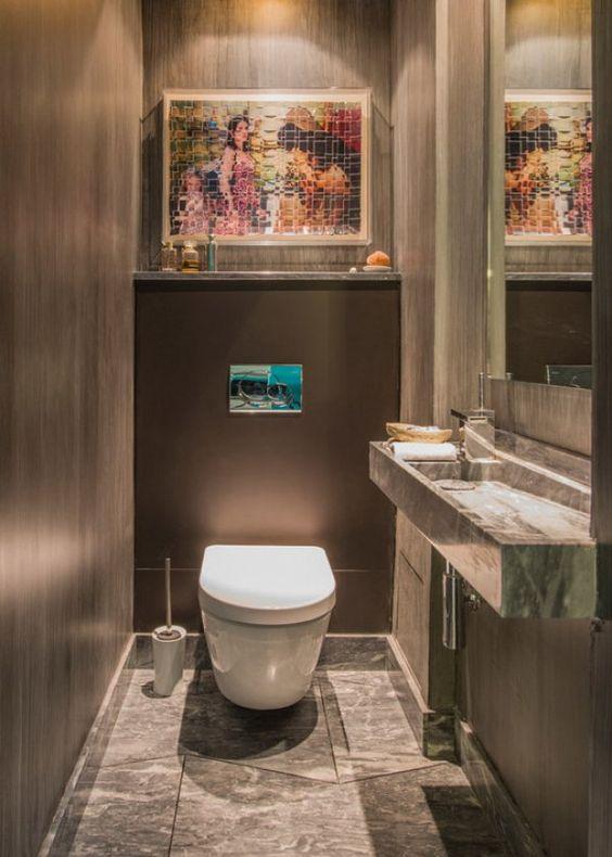 Ambiance Lounge dans les WC
