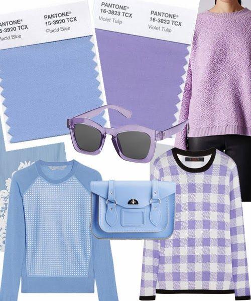 TOP 5 FASHION : COLORES DE MODA 2014 PRIMAVERA VERANO Y ALGUNAS IDEAS PARA USARLOS - Placid blue - Violet Tulip / Azul celeste y lila