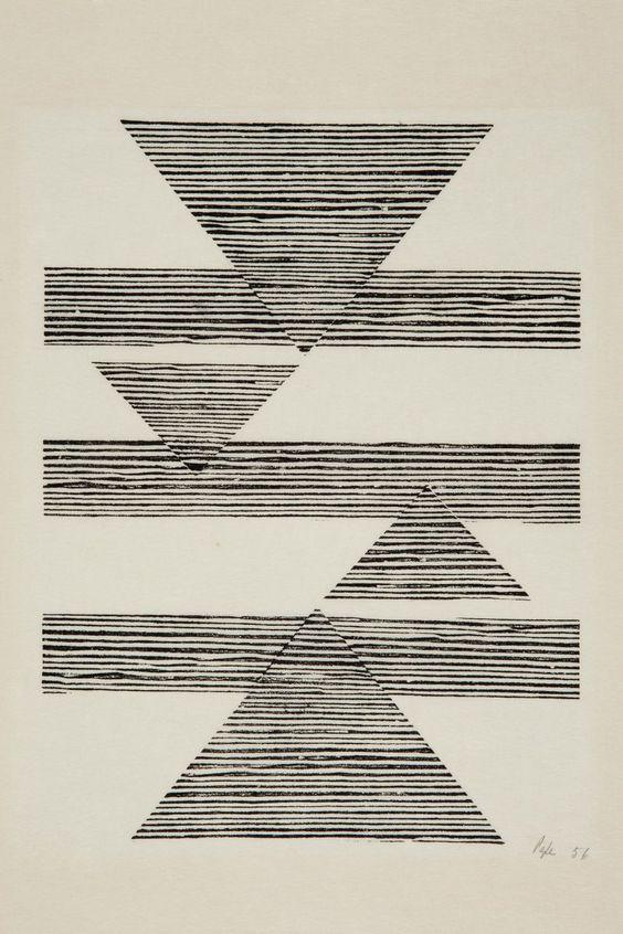 collectifpointbarre:vjeranski:Sem título: Tecelar (Untitled: Weaving) , 1956 /Lygia Pape /Barres point.