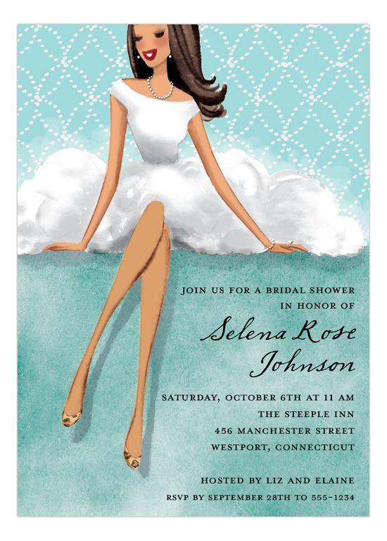 Lovely White Dress Multicultural Invitation
