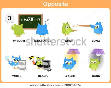 Number Names Worksheets : list of opposite words with pictures ...