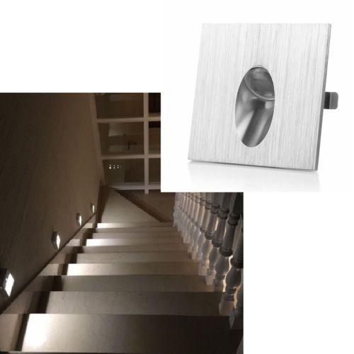 1w Led Mural Spot Lampe Encastre Mur Escalier Corridor Lampe Carre Spot Lumiere Ebay Parement Mural Lampe Murale Eclairage Encastre