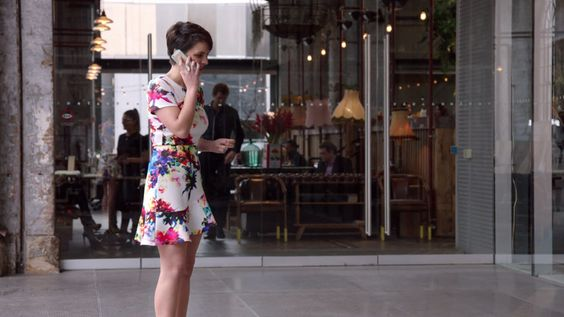 #Dani wears: #ASOS dress; #Peeptoe heels.