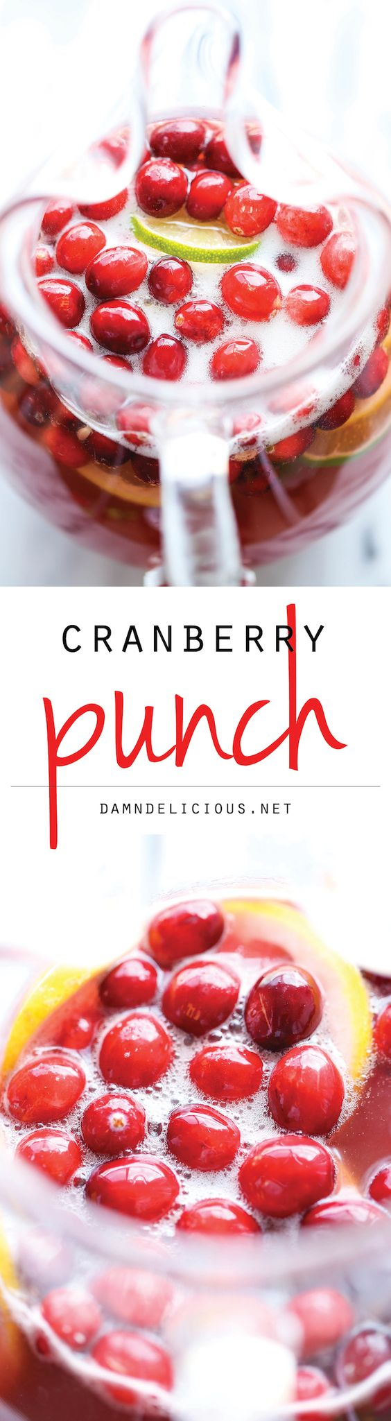 Alcohol Free Cranberry Party Punch Recipe via Damn Delicious - A super easy, refreshing drink so perfect for the holidays! The BEST Easy Non-Alcoholic Drinks Recipes - Creative Mocktails and Family Friendly, Alcohol-Free, Big Batch Party Beverages for a Crowd! #mocktails #virgindrinks #alcoholfreedrinks #nonalcoholicdrinks #familyfriendlydrinks #partypunch #partydrinks #newyearseve #partydrinkrecipes