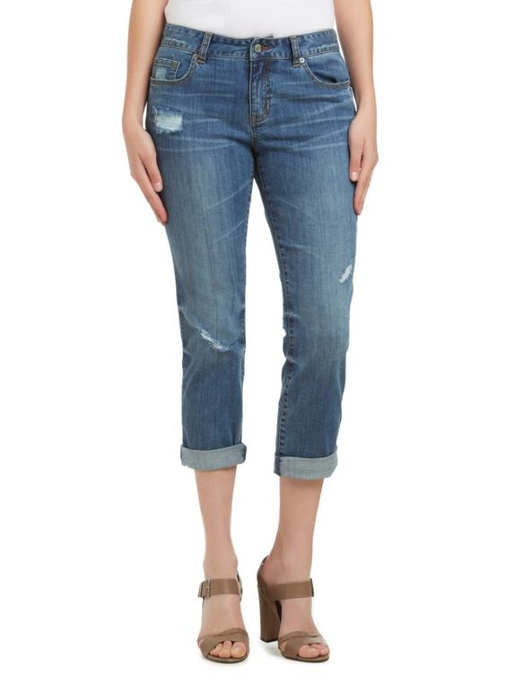 Sussan - Clothing - Jeans - Liza distressed mid wash jean