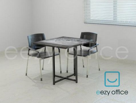 AXEL LUNCHROOM TABLE: This Dainty Square Lunchroom Table With X  Base Is  Sure To Add A Touch Of Elegance To Your Employeesu0027 Dining Experience.