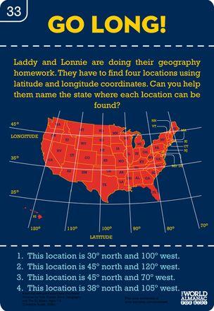 Longitude and Latitude Printable Worksheet | Latitude-and ...