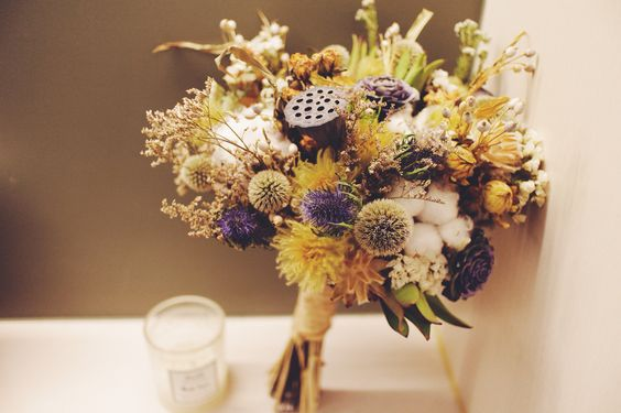 My second try on dried flower bouquets!