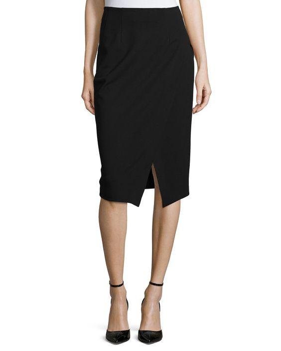 Slim-Fit Scissor Skirt, Black