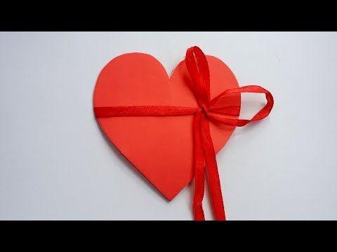 Youtube Diy Valentines Cards Diy Pop Up Cards Heart Pop Up Card