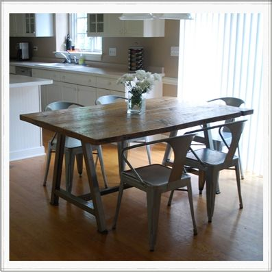 recycled wood table reclaimed furniture urban industrial goods kitchen kool  pinterest tables modern architects and rustic