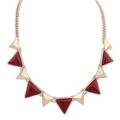 Amelia Maroon Fashion Necklace