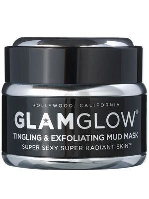 Glam Glow Tingling & Exfoliating Mud Mask.....this product is simply AMAZING!!!!! After one use I was getting compliments on my skin tone and color! :-) my skin was so soft and fresh feeling! It's well worth the $....it lasts a long time becauSe only a small amount is needed for best results. I LOVE THIS PRODUCT!!!!!!!!!!!!!