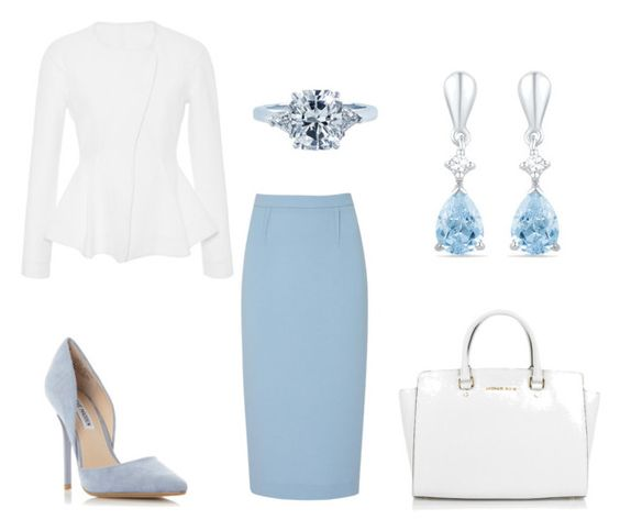 """""""5"""" by ojunka ❤ liked on Polyvore featuring Roland Mouret, Steve Madden, Michael Kors and Tiffany & Co."""