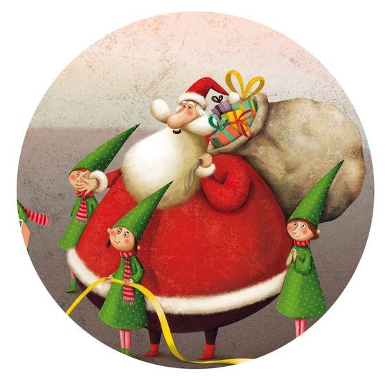 """pour le 1er Noël de mon petit prince """"Défense de manger le Père Noël!"""" illustrations by Marie Desbons"""