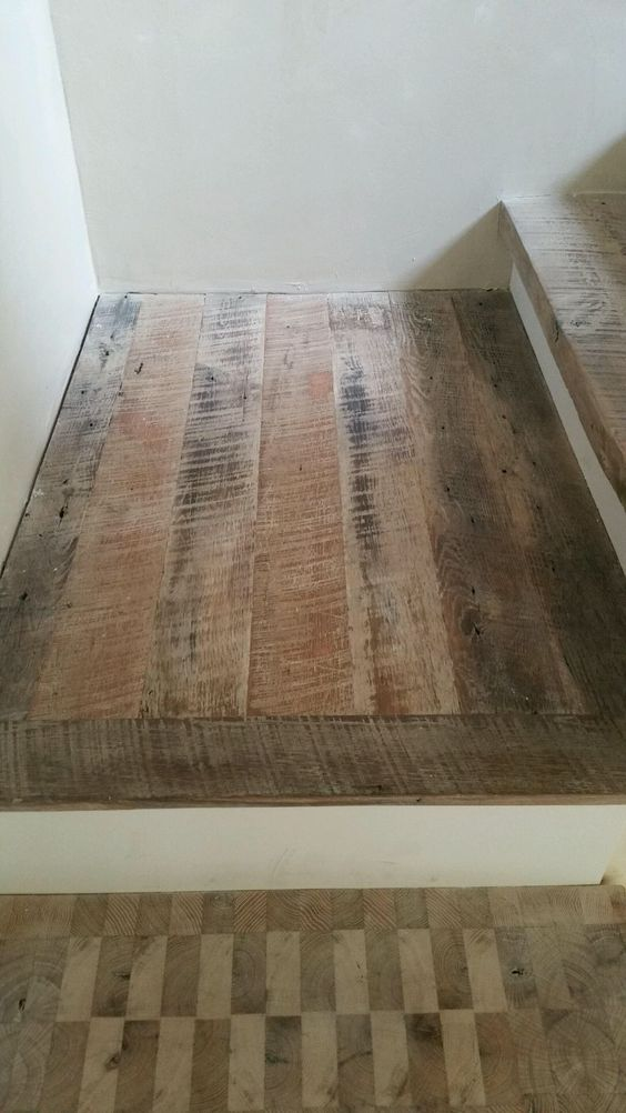 Reclaimed flooring, 100% dirty top with white oil, by Good Wood Nashville (www.goodwoodnashville.com)