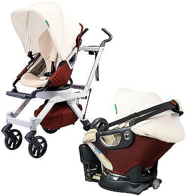 Orbit Baby Stroller Travel Collection G2 in Mocha with Bassinet NEW!