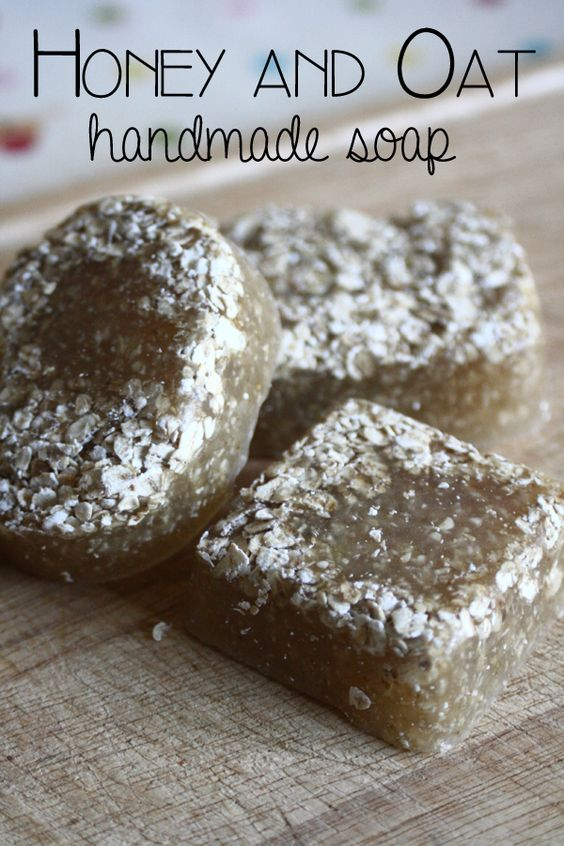 Honey and Oat handmade Soap  recipe to make as a gift or use yourself.